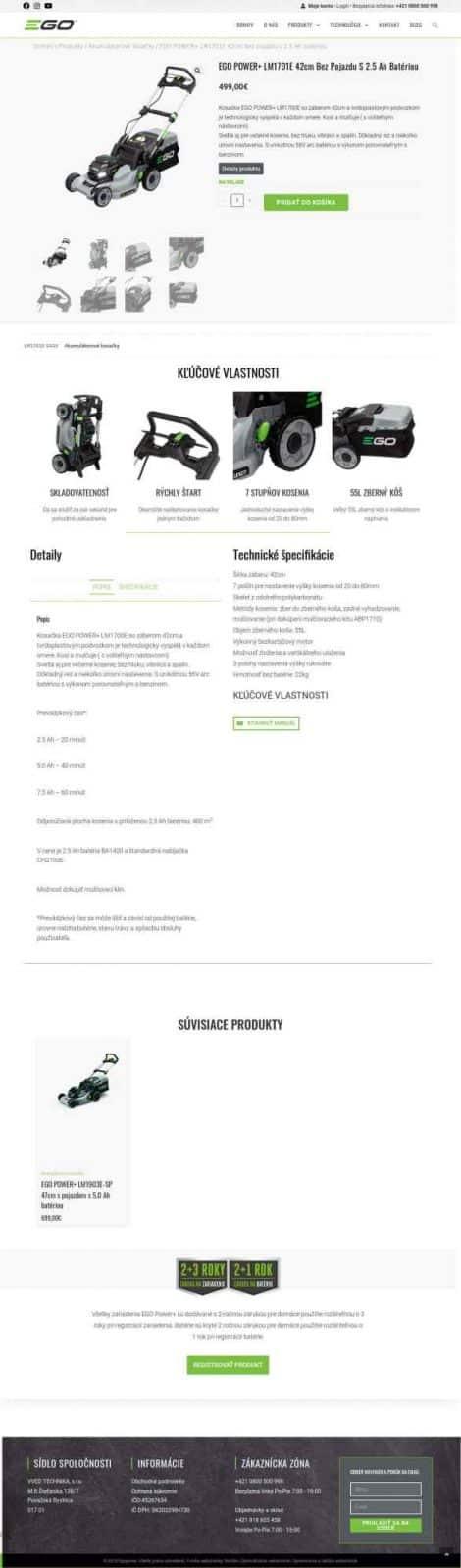 Custom e-shop: Egopower.sk