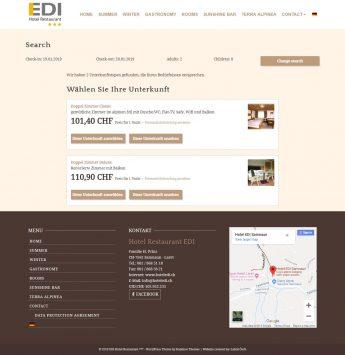 Hotel + reservation system